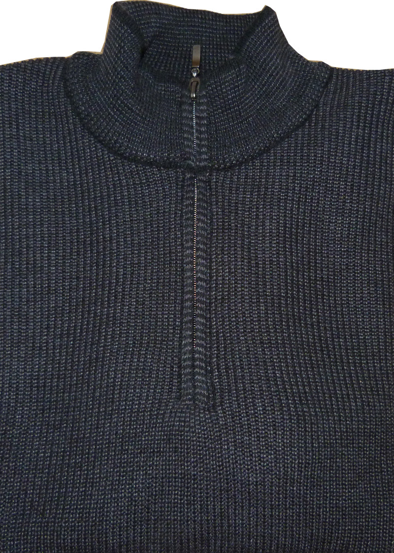 Pánský svetr šedý se zipem 6aef84490e