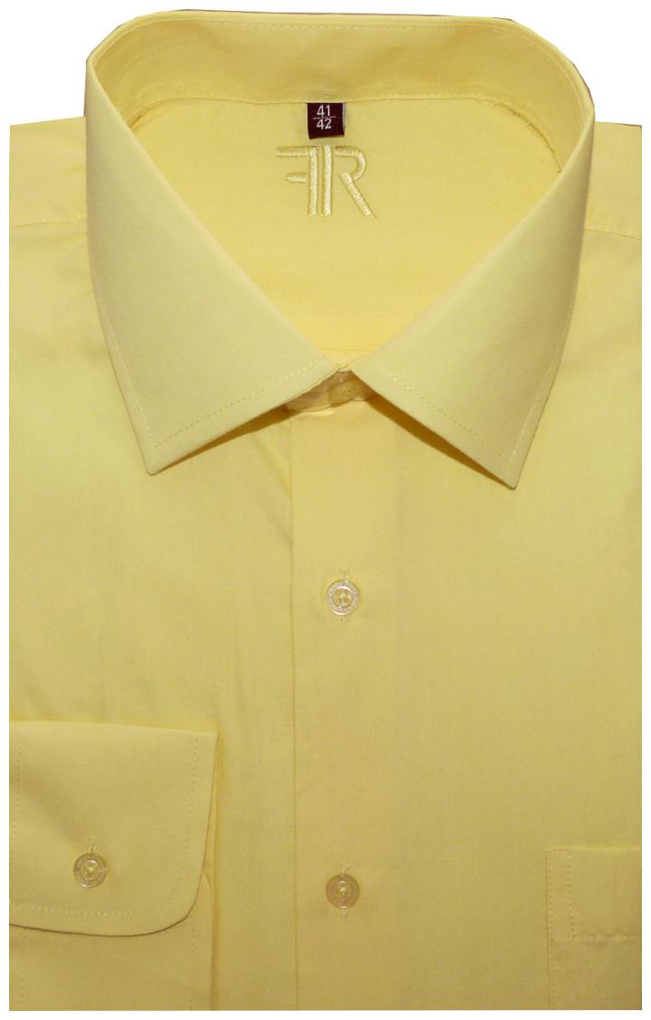 9577617aaf4 Pánská košile (žlutá) s dlouhým rukávem