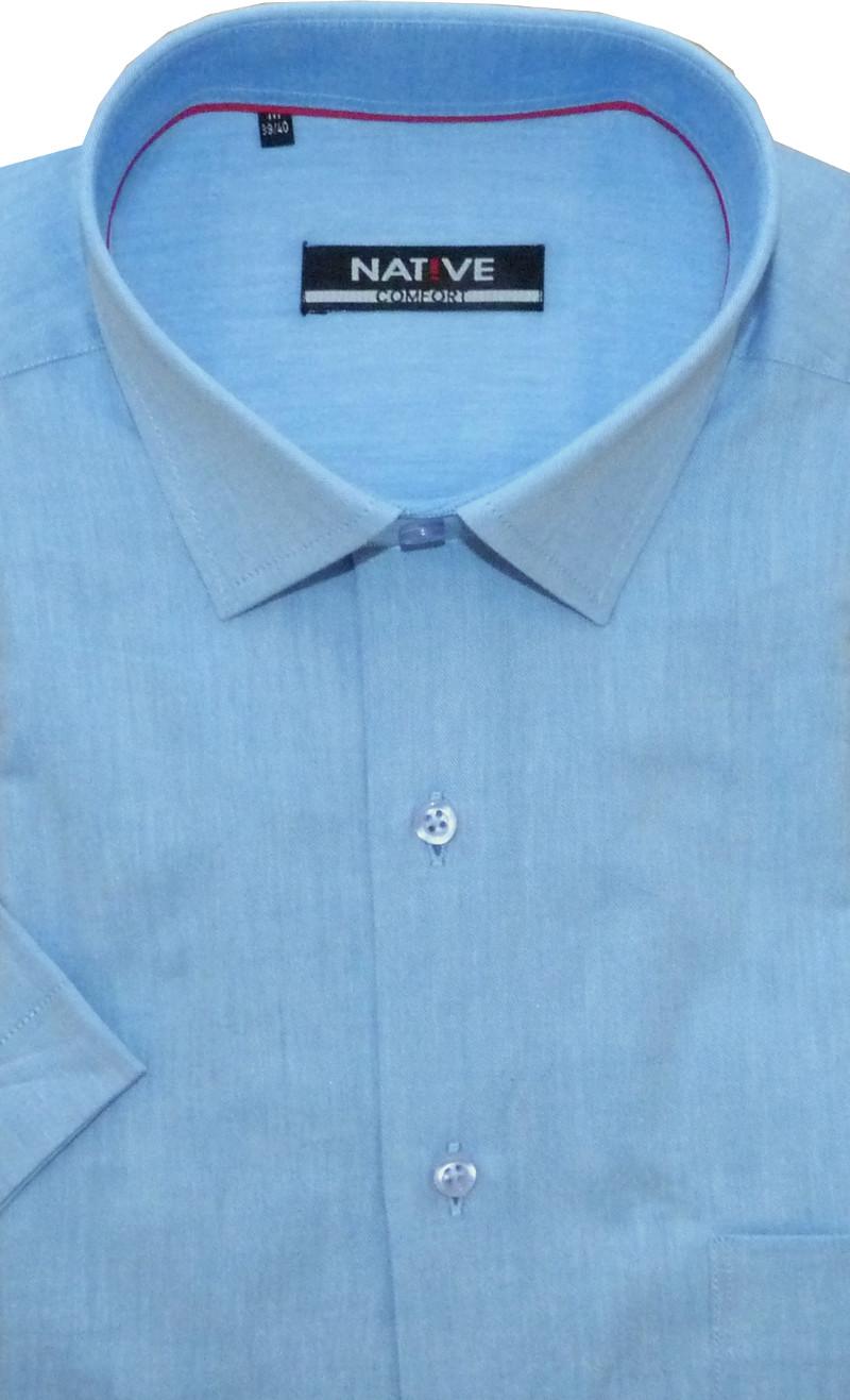 26d73114df7 Pánská košile (světle modrá) s krátkým rukávem