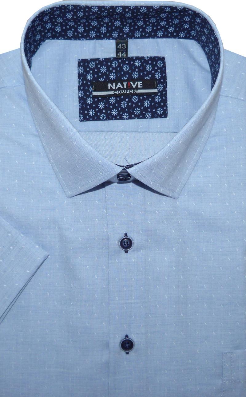 Pánská košile (modrá) s krátkým rukávem 1bf4d45a7c