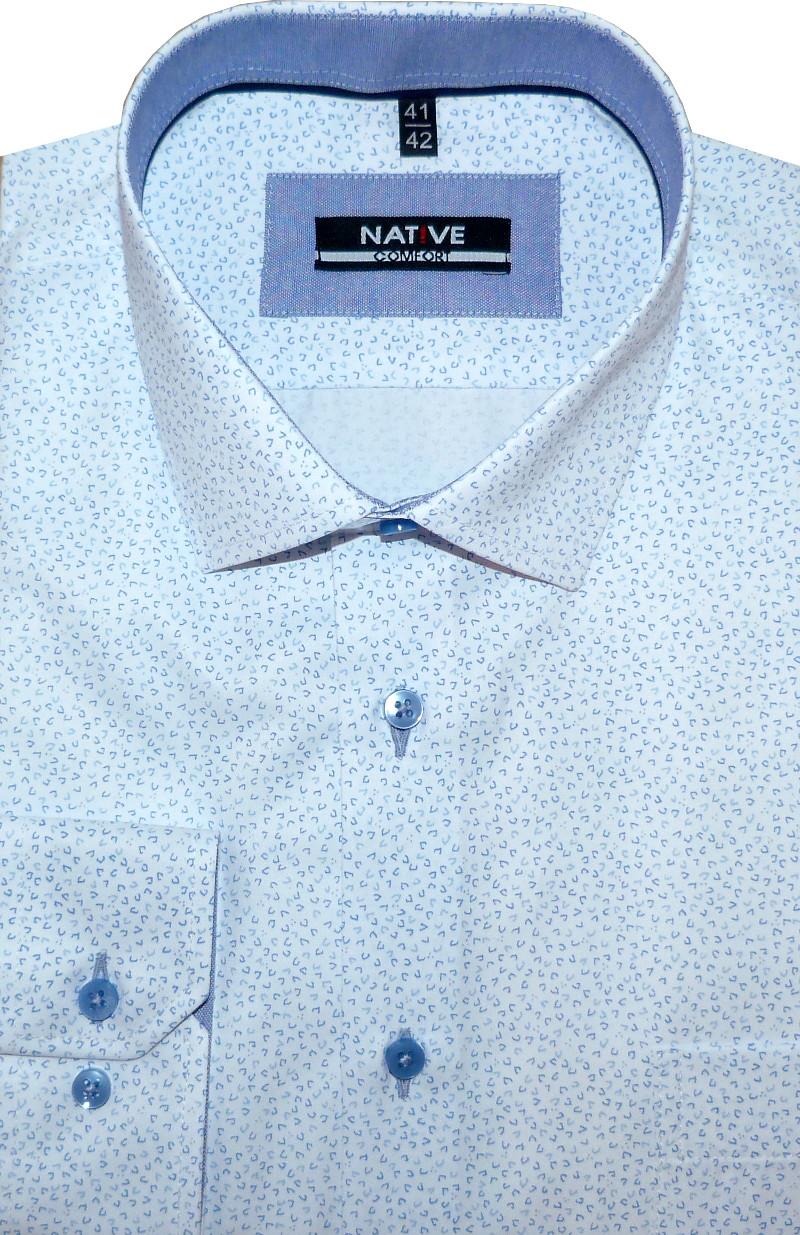 Nadměrná pánská košile (bílá) s dlouhým rukávem 49 50 01b3522ad6
