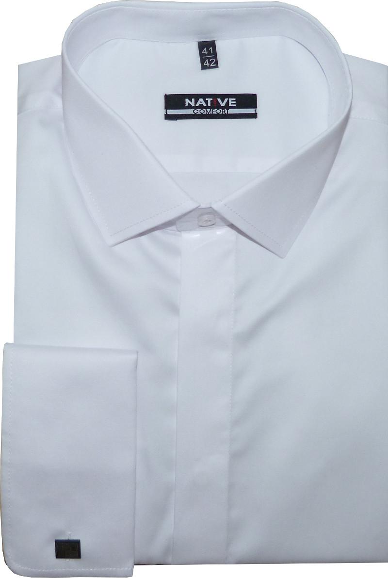 Nadměrná pánská košile na manžetové knoflíčky d63699bf9c