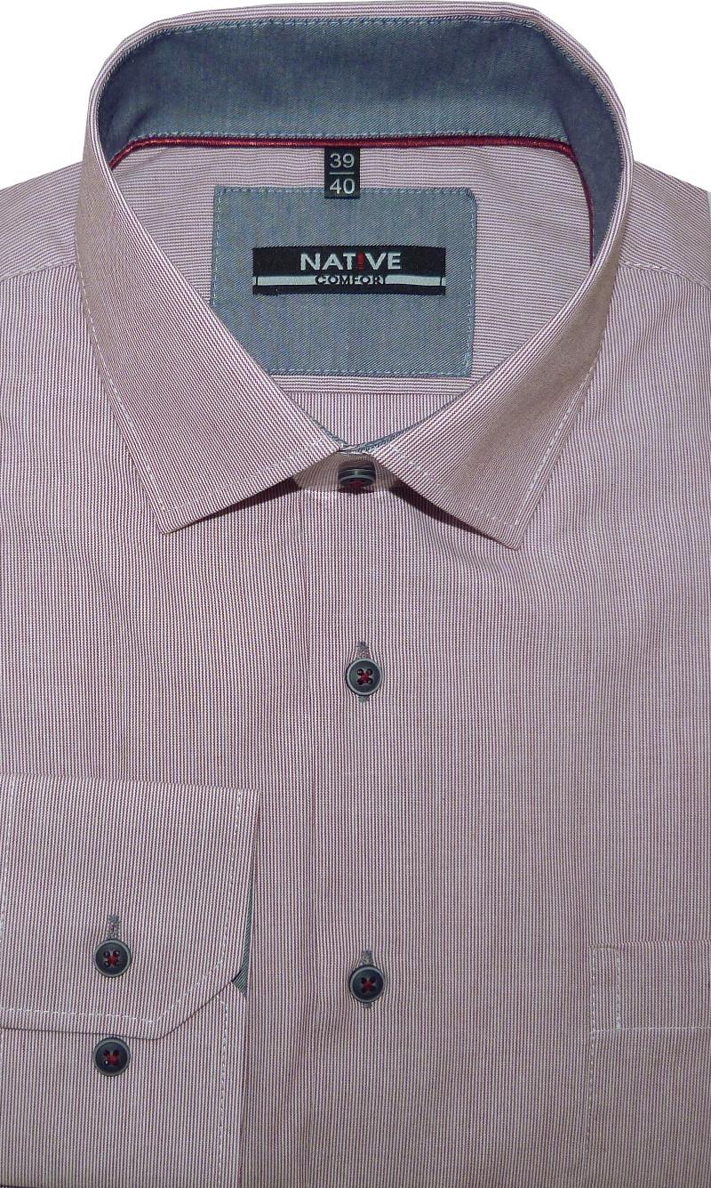 f7ae2842c33 Pánská košile (proužek) s dlouhým rukávem 45 46