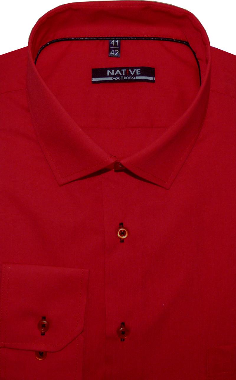 ddc0cc7c8d5 Nadměrná pánská košile (červená) s dlouhým rukávem