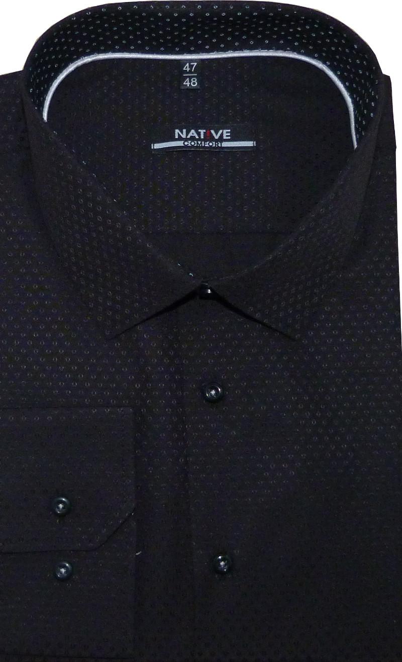 47a38fca12d Nadměrná pánská košile (černá) s dlouhým rukávem