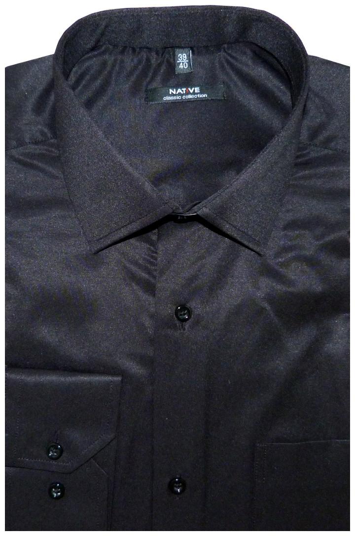 10592fa7f7 Nadměrná pánská košile (černá) s dlouhým rukávem, vel. 47/48 - N951/002