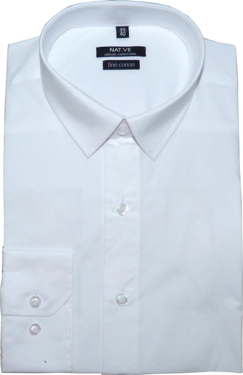 d6bd795d37b Nadměrná pánská košile (bílá) s dlouhým rukávem