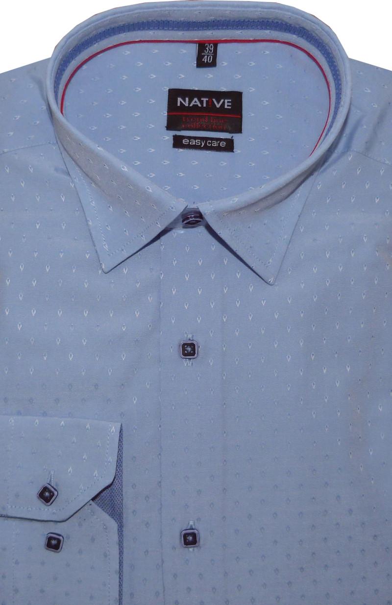 Pánská košile (světle modrá) s dlouhým rukávem 5a2310890f
