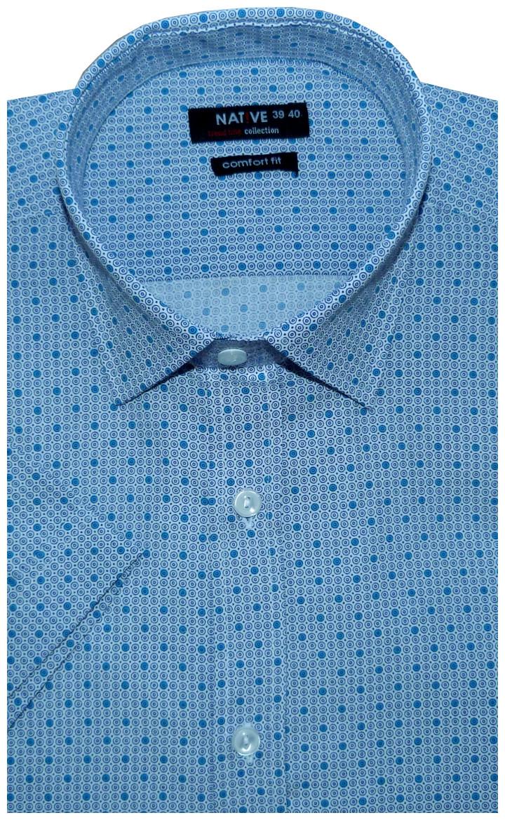 Pánská košile (tyrkys) s krátkým rukávem ec31b17cff