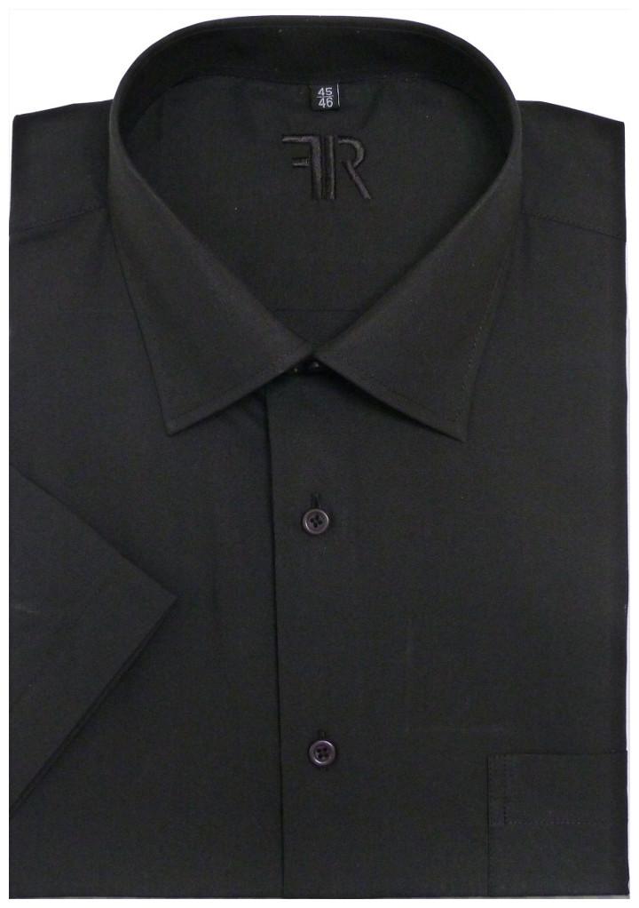 99b868ccad Pánská košile (černá) s krátkým rukávem, 45/46, 001/001| mojekosile.cz