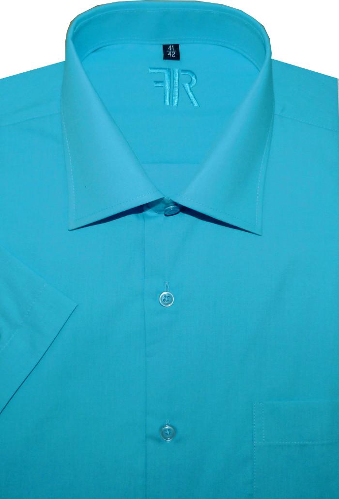 Pánská košile (tyrkysová) s krátkým rukávem b9acac9361