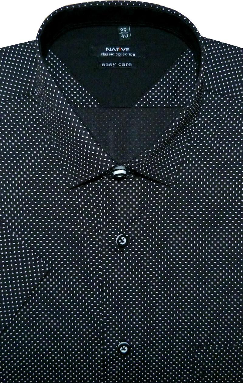 Pánská košile (puntíky) s krátkým rukávem ab41ce4cc0