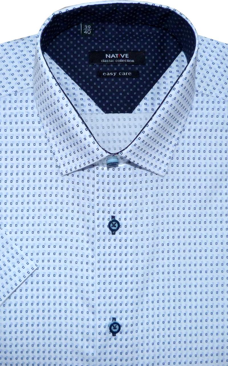 Pánská košile (bílá) s krátkým rukávem 516019f80a