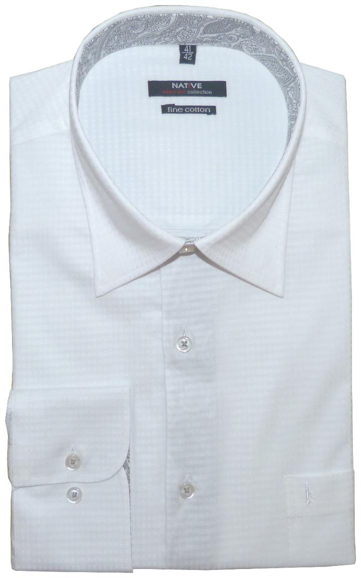Pánská košile (bílá) s dlouhým rukávem e84c040043